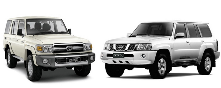 Toyota Land Cruiser 70 и Nissan Patrol Y61