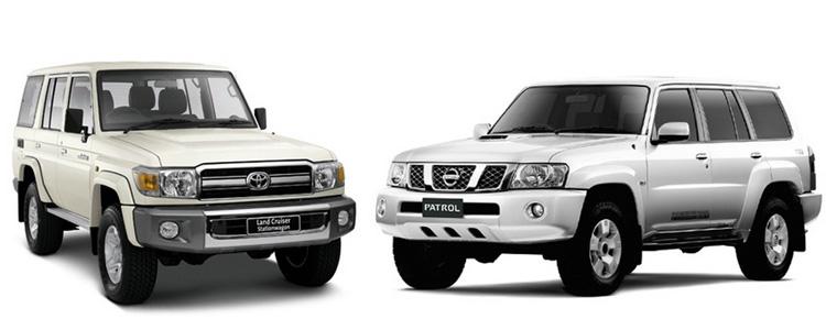 Toyota Land Cruiser 70 и Nissan Patrol Y61